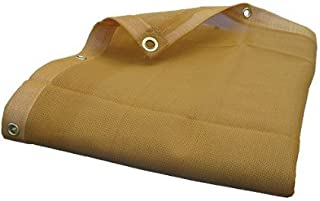 8'X12' (Beige/Tan) Heavy Duty Mesh Tarp Net Sail Sun Shade Awning and Fence Screen Patio and Canopy Cover