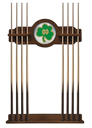 Notre Dame Fighting Irish Pool Cue Rack Shamrock