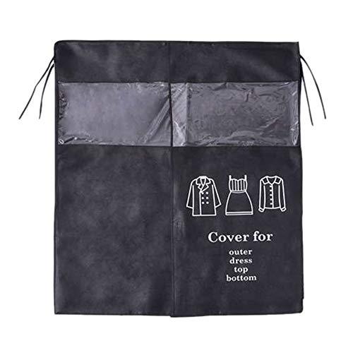 LFONCE Cubierta para el polvo, bolsa de almacenamiento para ropa de vestir larga, a prueba de polvo, protección contra polillas, bolsa de viaje (negro)