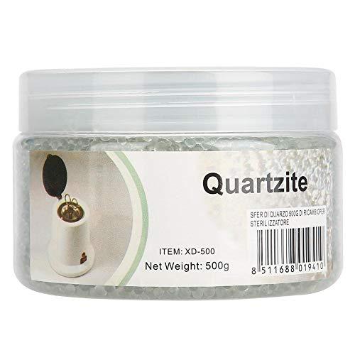 Perles de stérilisateur en verre, 500g Boules de nettoyage en verre transparent Perles de sable de silice Boules en verre clair pour boîte de stérilisateur d'ongles haute température