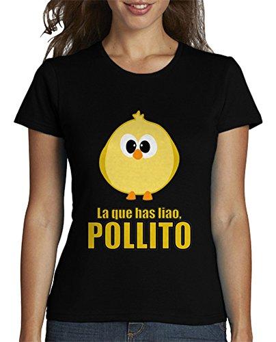 latostadora - Camiseta la Que Has Liao Pollito para Mujer