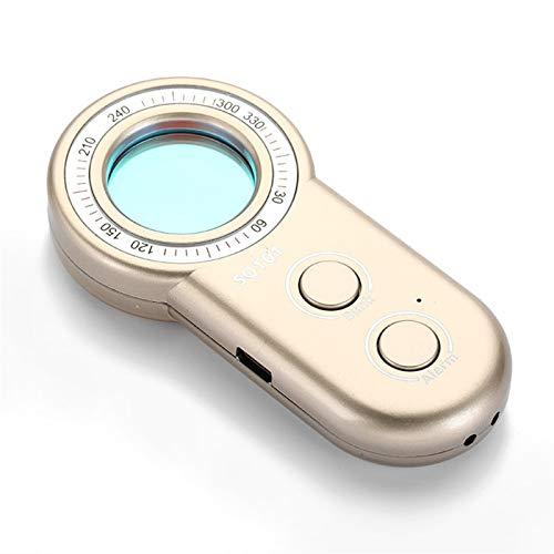 youyu6-2o521 Equipo de detección GPS Cámara Hidden Anti-espía portátil y Detector de Errores Alarma antirrobo Detector de Radar para vehículos (Color : Gold Colour)