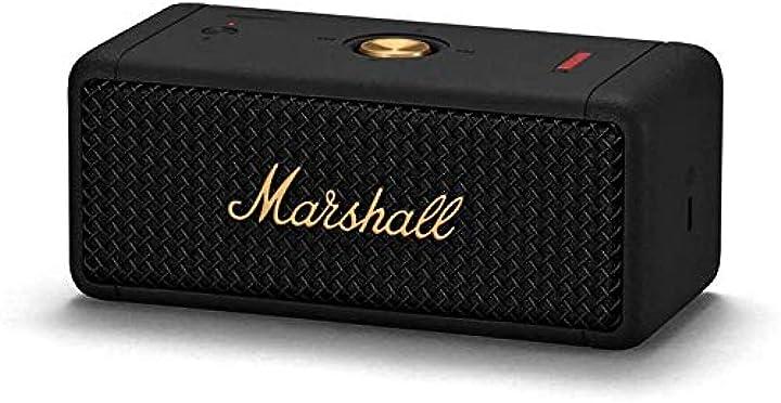 Altoparlante portatile marshall emberton , nero (black/brass) 1005696