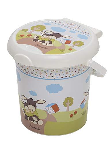 Rotho Baby Design Poubelle à Couches Emmi Style! , Anneau de Retenue pour Sacs Hygiéniques, 11L, À partir de 0 Mois, Sterntaler Design, StyLe!, Blanc, 202150195BS