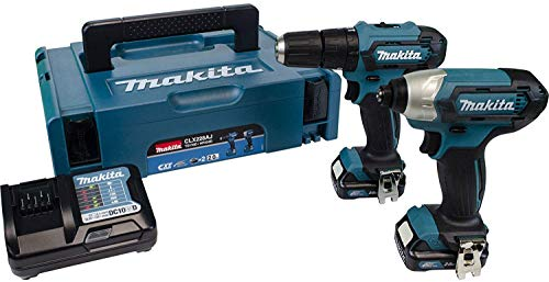Makita CLX228AJ 12V Max Li-ion CXT 2 Piece Kit comprising HP333DZ, TD110DZ Complete with 2 x 2.0 Ah Li-ion Batteries and Charger Supplied in a Makpac Case