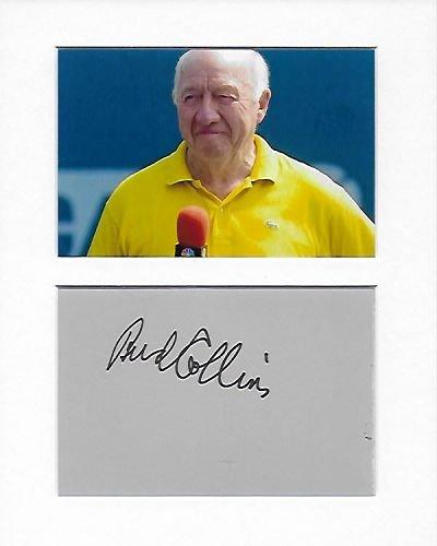 Tennis–Sportscaster–Bud Collins Genuine Authentic Hand Autogramm AFTAL COA