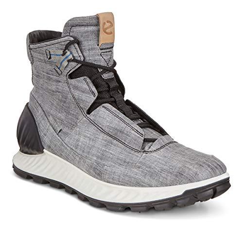 ECCO Men's EXOSTRIKE High Hiking Shoe, Black/Concrete DYNEEMA Leather, 45 M EU (11-11.5 US)