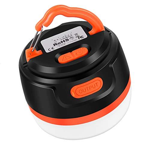 JANRD LEDランタン 充電式 キャンプ ランタン アウトドア ライト 5200mAh 11照明モード 夜釣り 防災対策 IPX5防水 オレンジ