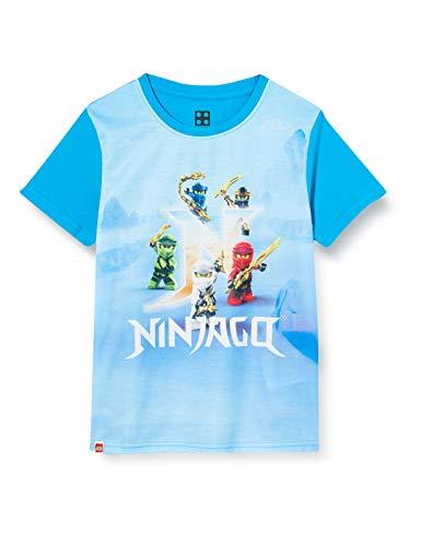 LEGO Jungen cm Ninjago T-Shirt, Blau (Light Blue 53), (Herstellergröße: 122)