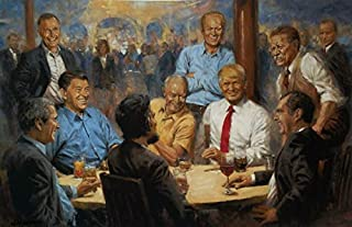 Andy Thomas The Republican Club Trump and Presidents Signed Art Print (Paper Size 19 x 13) (Image Size 17 x 11)