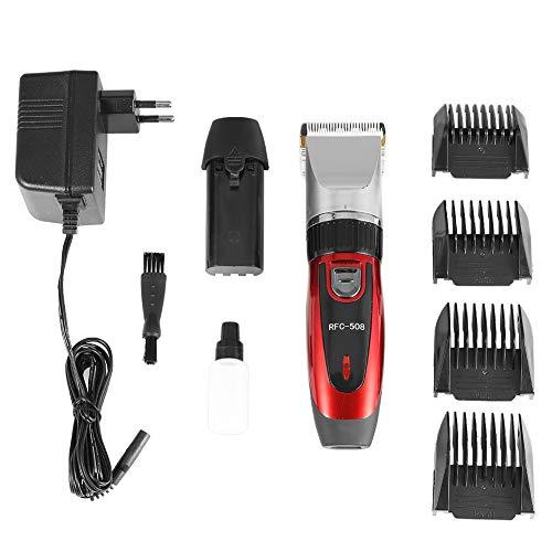Elektrische tondeuse elektrische tondeuse barbier professionele keramische messen vachtverzorging kappersset voor kinderen en volwassenen