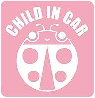 imoninn CHILD in car ステッカー 【マグネットタイプ】 No.04 テントウ虫さん (ピンク色)