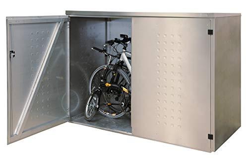 Reinkedesign Fahrradgarage/Multifunktionsbox (Edelstahl mit Pultdach)