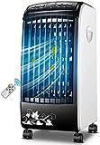 Elvoo Inteligente del acondicionador de aire del ventilador, silencioso espacio personal portátil refrigerador de aire, humidificador, purificador 3 en 1 refrigerador evaporativo de control con contro