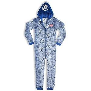 Marvel Avengers Pijamas Enteros de Una Pieza Niño Que Brillan En La Oscuridad, Mono Entero Superheroes, Pijama Niño…