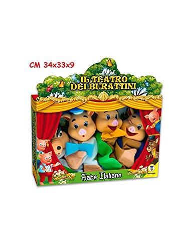 Teorema-Il Teatro dei Burattini Marionette, Multicolore, VD74135