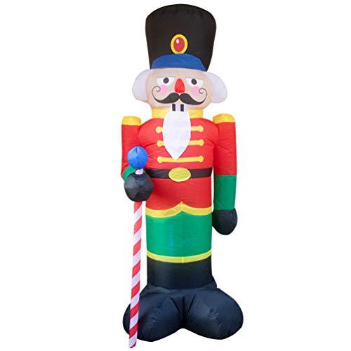 BESPORTBLE Weihnachten Aufblasbar Figur LED Beleuchtet 240cm Nussknacker Soldat Garten Figuren Weihnachtsdeko Festival Innen und Außenbereich Outdoor Einkaufszentrum Dekoration Geschenk