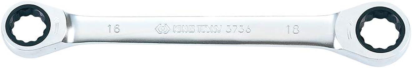 Chave Estrela Rápida com Catraca, Kingtony Br, 37361618M, 16X18