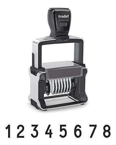 Sello Numerador Professional Trodat 5558 Autoentintable – 8-dígitos, impresión de 36 x 5 mm, tinta negra