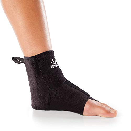 Premium Compression Wraparound Ankle Brace to Reduce Swelling and Speed Recovery - by BioSkin (M - L)