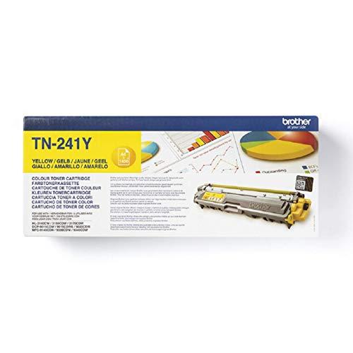 Brother TN241Y - Cartucho de tóner amarillo original para las impresoras HL3140CW, HL3150CDW, HL3170CDW, DCP9015CDW,...