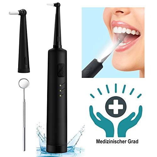 Zahnsteinentferner, Tragbarer Zahnreiniger, Tartar, Hochfrequente, Wasserdicht IPX6 2pcs Zahnbürstenkopf, Zahnsteinentfernung Zahnreinigung Interdentalbürsten Zahnpolierer-Effektive Zahnarztbesteck