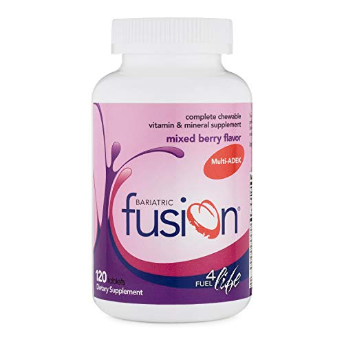 Bariatric Fusion ADEK Bariatric Multivitamin & Mineral Supplement Mixed Berry Flavor for Duodenal Switch, 120 Tablets