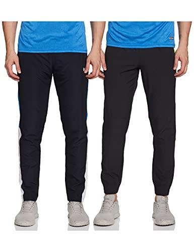 Fusefit Men's Sweatpants Regular Track Pants (FFA-MB018-01_DK Grey_L)