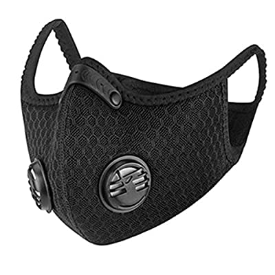 Gurfitra_Pillow Black Facial Protective Face Covers Breathable Washable Reusable Black Mouth Cover for Outdoors Cycling Travel Anti-dust PM 2.5 by Gurfitra