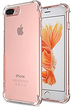 for iPhone 7 Plus Case for iPhone 8 Plus Case Matone Crystal Clear Shock Absorption Technology Bumper Soft TPU Cover Case for iPhone 7 Plus  2016 /iPhone 8 Plus  2017  - Clear