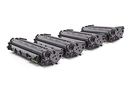 4x HQ-Patronen - kompatibel zu HP I-Sensys LBP-3360 Toner Q5949A / 49A Schwarz