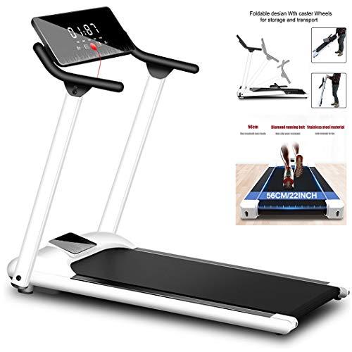 EKN - Cintas de correr para el hogar, con pantalla LCD, altavoz Bluetooth y soporte para tazas, máquina de correr, debajo del escritorio, máquina de fitness, sin instalación de 22 libras