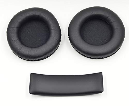 Standard PU Leather Ear Pads Cushion Soft Replacement Earpads + Headband for Original AKG K845 K545 Headset Repair Part,6