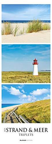 Strand & Meer - Triplets 2021 - Streifenkalender XXL 25x69 cm - Beach & Ocean - Natur - Bild-Kalender - Wand-Kalender - Alpha Edition