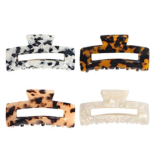 4 clips de pelo para crear accesorios de peluquería a la moda para mujeres y niñas de largo tamaño.