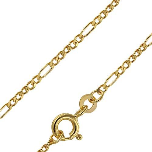 trendor Goldkette 333 Gold für Damen und Herren Figaro Diamantiert 71811 50 cm