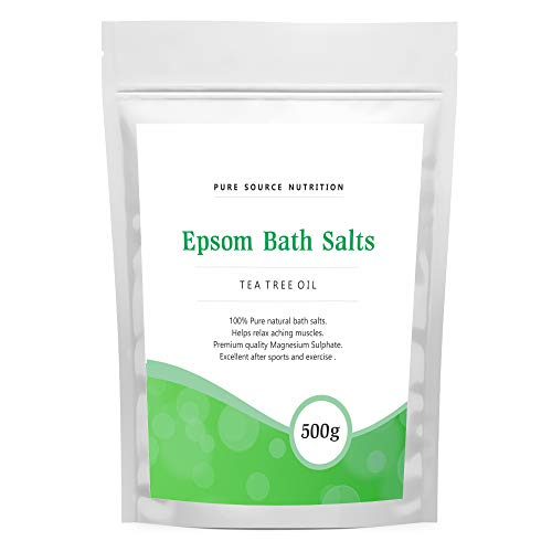 Epsom Salt For Bath 500G Of Pure Magnesium Used For Muscle Recovery And Relaxation 9 Scents Available (Tea Tree Oil)