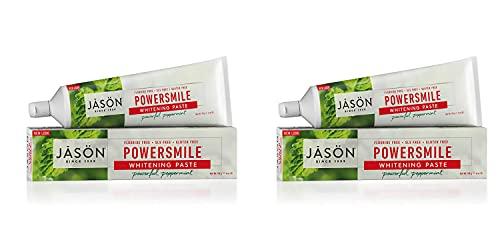 Jason Powersmile Whitening Fluoride-Free Toothpaste, Powerful Peppermint, 6 Oz Set of 2
