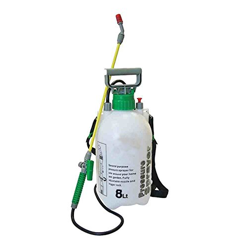8L GARDEN PRESSURE SPRAYER KNAPSACK WEEDKILLER CHEMICAL FENCE WATER SPRAY...