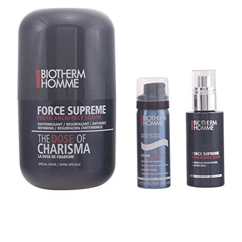 Biotherm Homme Force Supreme Geschenkset für Ihn (Anti-Falten Serum 50ml + Rasierschaum 50ml)