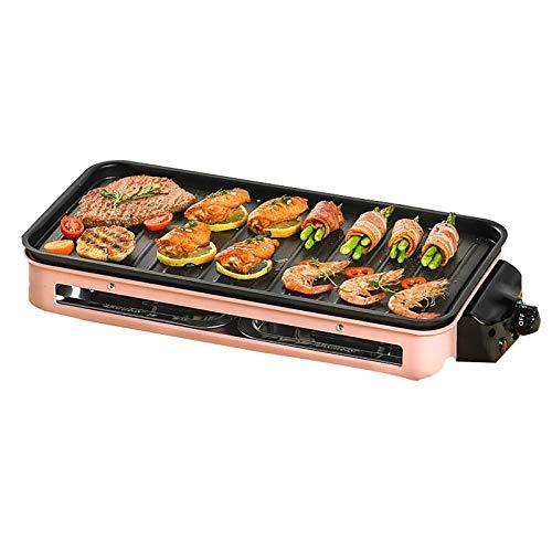 Elektrische BBQ-Tischplatte-GRILL-BBQ-Grill mit einstellbarer Temperaturregelung und -brenner-heißer Platte mit eingebautem Tropfablage