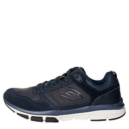 Lotto Grande III NU, Zapatillas de Running para Hombre, Azul/Negro (Nvy Dk/Blk), 43.5 EU