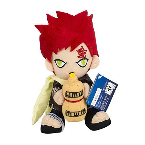 KroY PecoeD Anime Naruto Plüschtier, Cartoon Anime Charakter Spielzeug Super Weiche Gefüllte Plüsch Puppe Spielzeug Home Sofa Decor Jungen Mädchen und Anime Fans(Gaara)