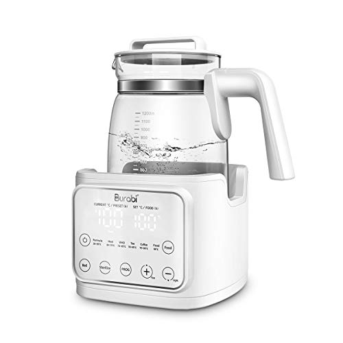 Burabi Baby Formula Kettle with Accurate Temperature Control, Baby Milk Instant Warmer Formula Maker with 365 Days Keep Warm, BPA-Free Baby Formula Warmer, Baby Kettle with Night Light & Cooling Fan