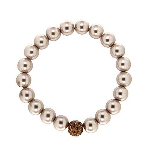 Armband elegant pearl, taupe/topaz I ausgefallenes Bracelet für Damen & Mädchen I individueller Frauen-Armschmuck I Mode-Schmuck Accessoires von sweet deluxe