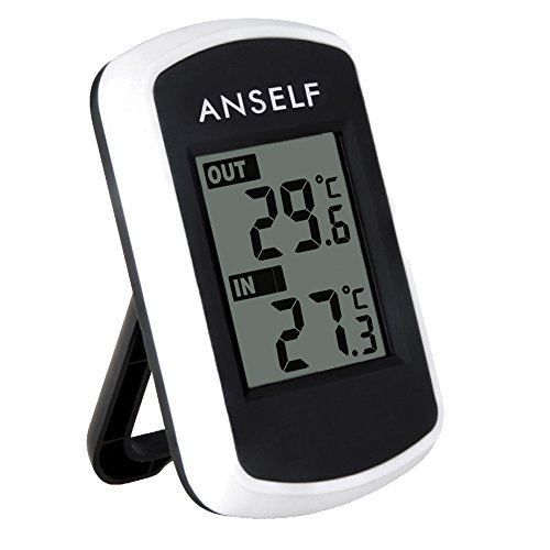 Anself Digital Weather Station LCD Wireless Indoor Outdoor Thermometer...