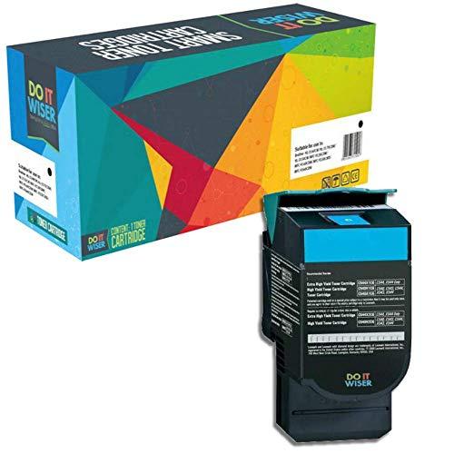 Do it wiser kompatible Toner als Ersatz für Lexmark C540H1CG C540N C543DN C544DN X543DN X544 C540 C544 C544DW C544N C546DTN X543 X544DN X544DW X544N X546DTN X548DE X548DTE C543 (Cyan)