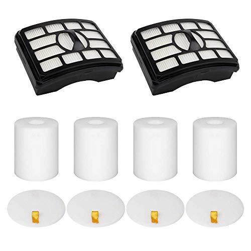 Wolfish 2 + 4 Pack Vacuum Filters Replacement Compatible for Shark Rotator Pro Lift-Away NV500, NV501, NV502, NV503, NV505, NV510, NV520, NV552, UV560, NV642, ZU780, ZU782, ZU785, Part Xff500 Xhf500