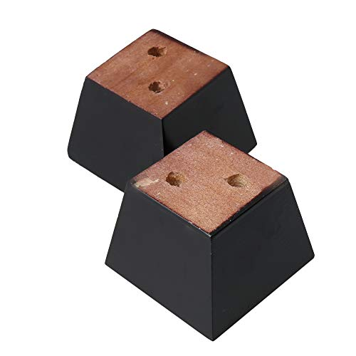 4Pcs 60mm Height Black Furniture Parts Sofa Legs Pine Wood Trapezoid Furniture Feet Pine Wood Sofa Couch Cabinet Legs Black Replacement Accessories