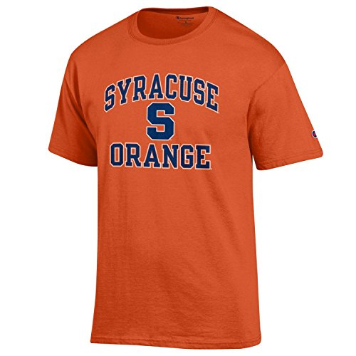 Champion NCAA Men's Shirt Short Sleeve Officially Licensed Team Color Tee, Syracuse Orange, X-Large